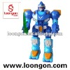 Loongon electronic walking robot with pulsing light-up eye unit with sound and light flywheel fighter