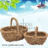 hot sell natural handmade cheap straw food basket