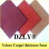 Velour needle punch carpet