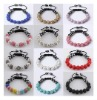 UK/US HOT 11*10MM Crystal disco balls Shamballa Bracelets +gift box SL925 18K