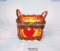 Rattan candle lantern for wedding