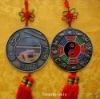 """2.7""""x14"""" Feng Shui Chinese knot Bagua mirror Yin Yang"""