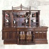 Shentop Big size antique wood corner bar counter cabinet JPQ049