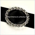 Roud rhinestone ribbon buckle for wedding dresses