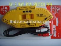 AV 3 WAY RCA SWITCH BOX