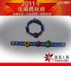 Kids' Galaxy With Detachable Charms Rubber Bracelet