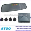 car reverse parking sensors with rearview mirror /led display/parking sensor/ buzzer alarm 4/6/8 sensors