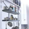 wrought iron kitchen wall pot rack