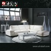 973 Italy corner white genuine leather sofa