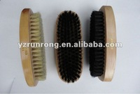 Wood shoe cleaning brush in pig bristle