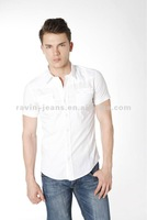 men's fitted short sleeve dress shirts
