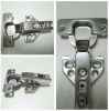 Slide-on concealed hinge