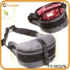 fashion waterproof nylon waist bag with pu trim