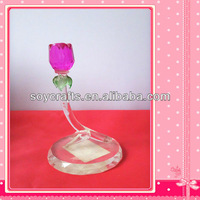 colorful crystal rose