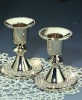 zinc alloy nickel plating candle holder with swaroviski crystal stone