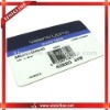 the printed paper customized barcode labels for t-shirts,shorts,pans,other garments