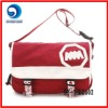 top quality red canvas sports shoulder bag/leisure shoulder bag