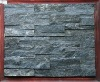 Natural black slate stacked stone veneer