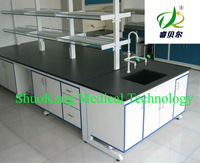 high quality steel and wooden bench for lab use, lab furniture