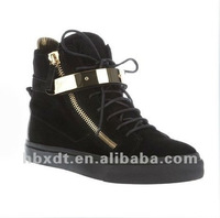 2013 most popular punk style zipper women casual shoes