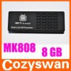 MK808 mini pc android dual core RK3066 cortex A9 1.6GHz 1G/8G google android 4.0 tv box mini pc with HDMI Wifi