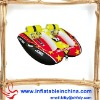 Fashion entertaiment ,water play equipment double seats pvc inflatable towable tube