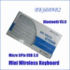 BK6089B2 Mini Wireless Bluetooth V3.0 Aluminum Keyboard support Apple & Windows system