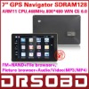 7'' inch GPS Navigation car GPS 4G Nandflash RAM 128M DDR 4G built-in memory FM free map+gift(Mstar MSB2521 500MHz chipset)