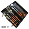 10 pcs bbq tool set, 10 in 1 tool set