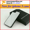 Silver carbon fiber black case for Iphone 5 with twill weave pattern