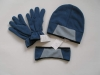 Polar Fleece gloves hats head band sets