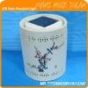 Wireless Porcelain Solar Light, LED Solar Decoration Light