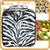 fashion black zebra classic lunch bags for girls environmentally