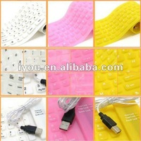 convenient silicone rubber keyboard in your hand