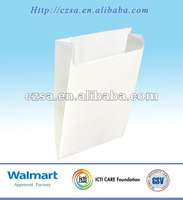 Disposal fast food white kraft paper bag packaging (FDA)