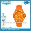 5 ATM water resistnat sports colorful japan quartz movt fashion silicone watch LH0852