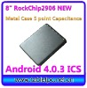 "Cheapest 8"" Metal case RK2906 Capacitive Tablet PC 4.0.3 ICS 1.2GHz, Cortex A8 (860)"