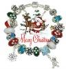 Wholesale Christmas Santa charm bracelets jewelry
