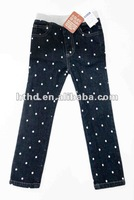 100% cotton black color girl's jeans