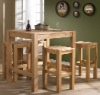 Simple and popular wood bar table and chair set