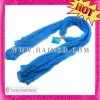 2013 Hot Bali Yarn Fresh Blue Seashell Charm Scarf