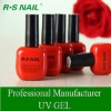R.S NAIL soak off UV gel polish color chart 121-132