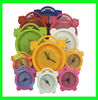 2012 factory OEM design eco-friendly Silicone clock with 2 size + different colors(Mix colors)