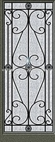 wrought iron door glass