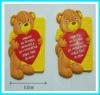 fashion plastic bear shape key chain,key ring