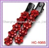 HAIR ACCESSORIES / HAIR CLIP / TWO PIECE SET / FLOWER / CRYSTAL STUD