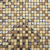 Cream Marfil Marble Mix Glass Mosaic tile