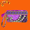 Lovely Wristlet in Very Berry Paisley Wallet Purse DOM-WAL0001