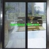 Aluminum retractable mosquito net for door