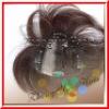 PU Coated handtied human hair women's toupee